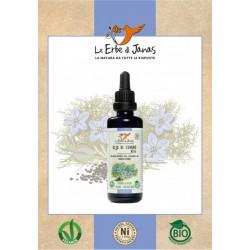 Olio vergine di cumino nero (cumino nero) 50 ml certificato biologico